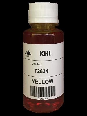 Epson T2634 kit de recharche 100 ml jaune (KHL marque) T2634Y100T26XLT2604-KHL