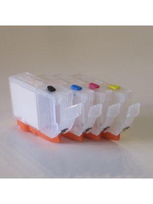 Cartouches rechargeables pour Canon PGI-5Bk/CLI-8C/CLI-8M/CLI-8Y avec auto reset puces (4pc) 6014