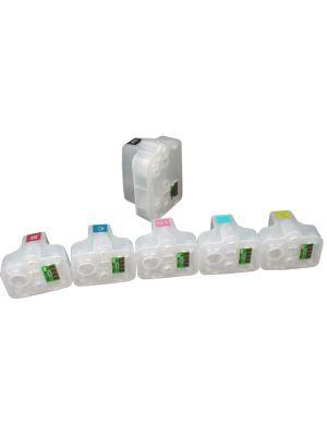 Cartouches rechargeables pour HP363Bk-HP363C-HP363M-HP363Y-HP363LC-HP363LM avec auto reset puces (6 pc) 6010