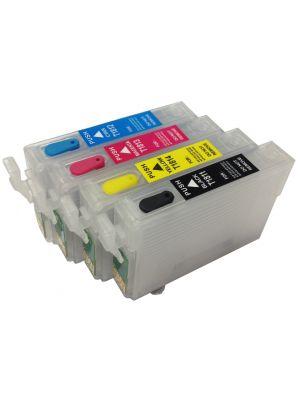 Cartouches rechargeables pour Epson T1811-1814/T1801-1804/18XL avec auto reset puces (4pc)  KHLrefill18XL