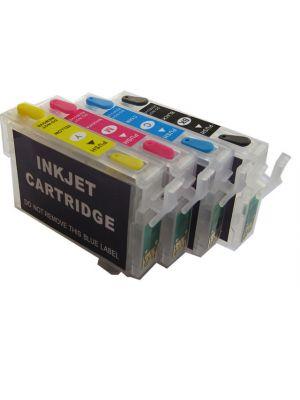 Cartouches rechargeables pour Epson T0711-T0714 avec auto reset puces (4pc) 6000